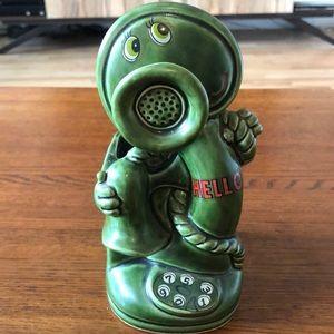 Adorable Ceramic Japan Telephone Planter